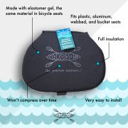 Yakpads® Canoe Seat with waterbottle holder